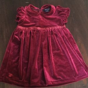 Kids Ralph Lauren burgundy velvet dress